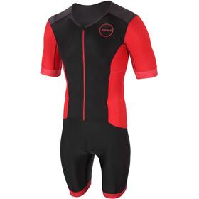 Zone3 Aquaflo Plus Krótki rękaw z zamkiem błyskawicznym Mężczyźni, czarny/czerwony